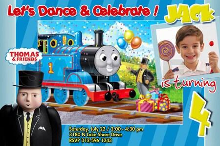 Thomas Birthday Invite BabyGaga - Birthday invitation card thomas and friends