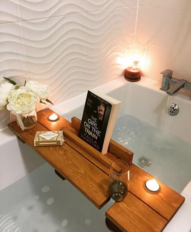 Bath Caddy Bath Shelf Birthday gift pamper spa