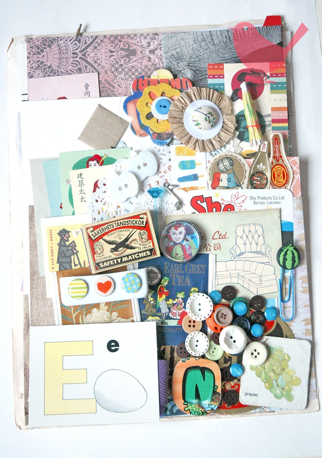 Large Scrap Pack - New and Vintage paper ephemera, paper scraps