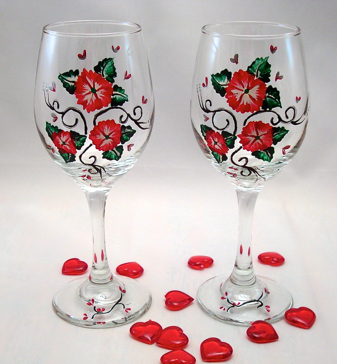 Valentine's Day/ Wedding Wine Glases