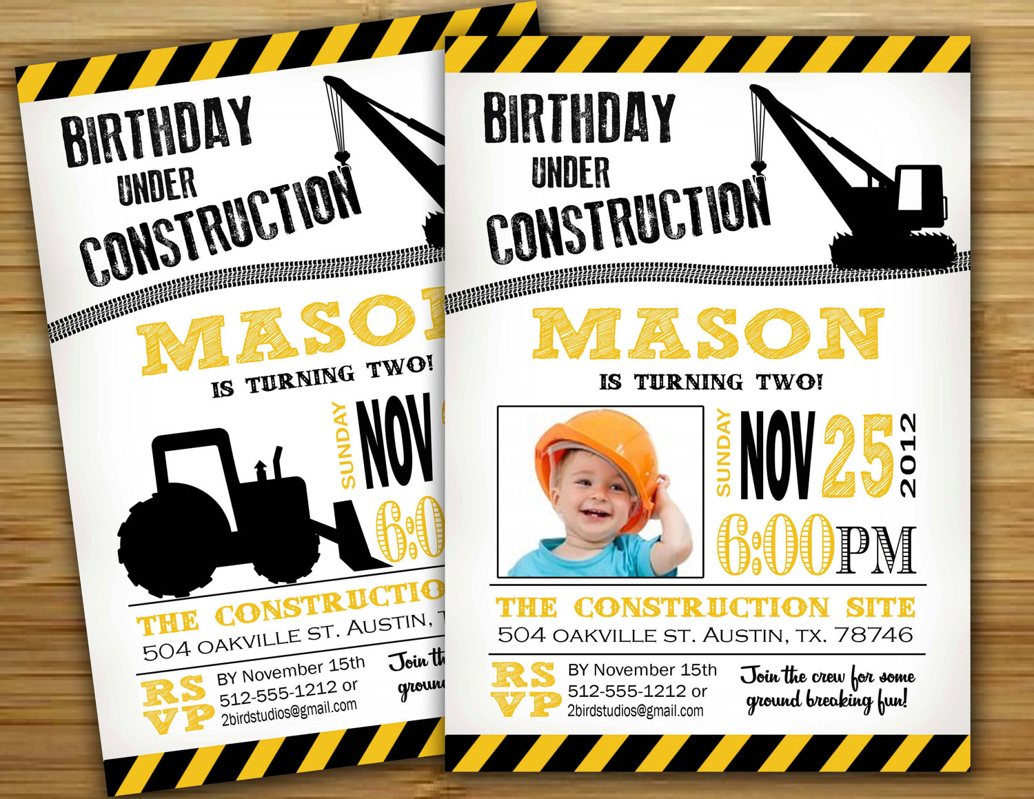 17 Best images about Jeffreys 4th Birthday Construction Party – Construction Themed Birthday Party Invitations