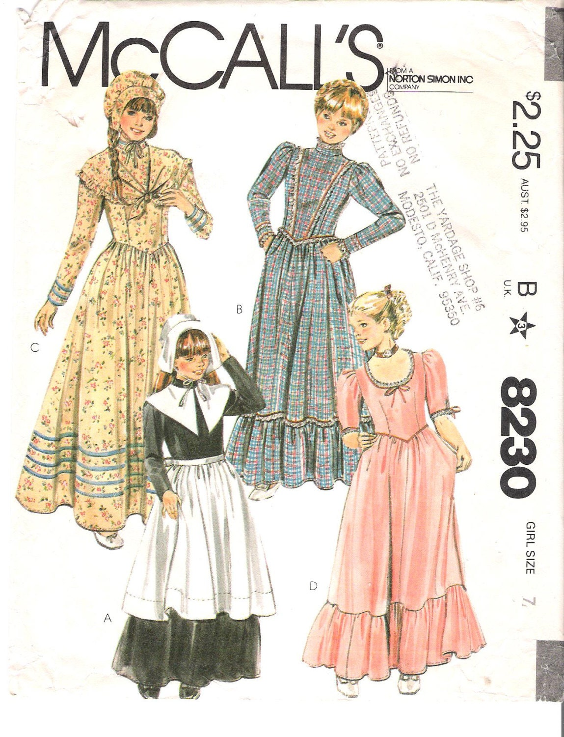 Pilgrim+Costume+Pattern ... Costume Colonial, Pilgrim or Prairie Dress ...