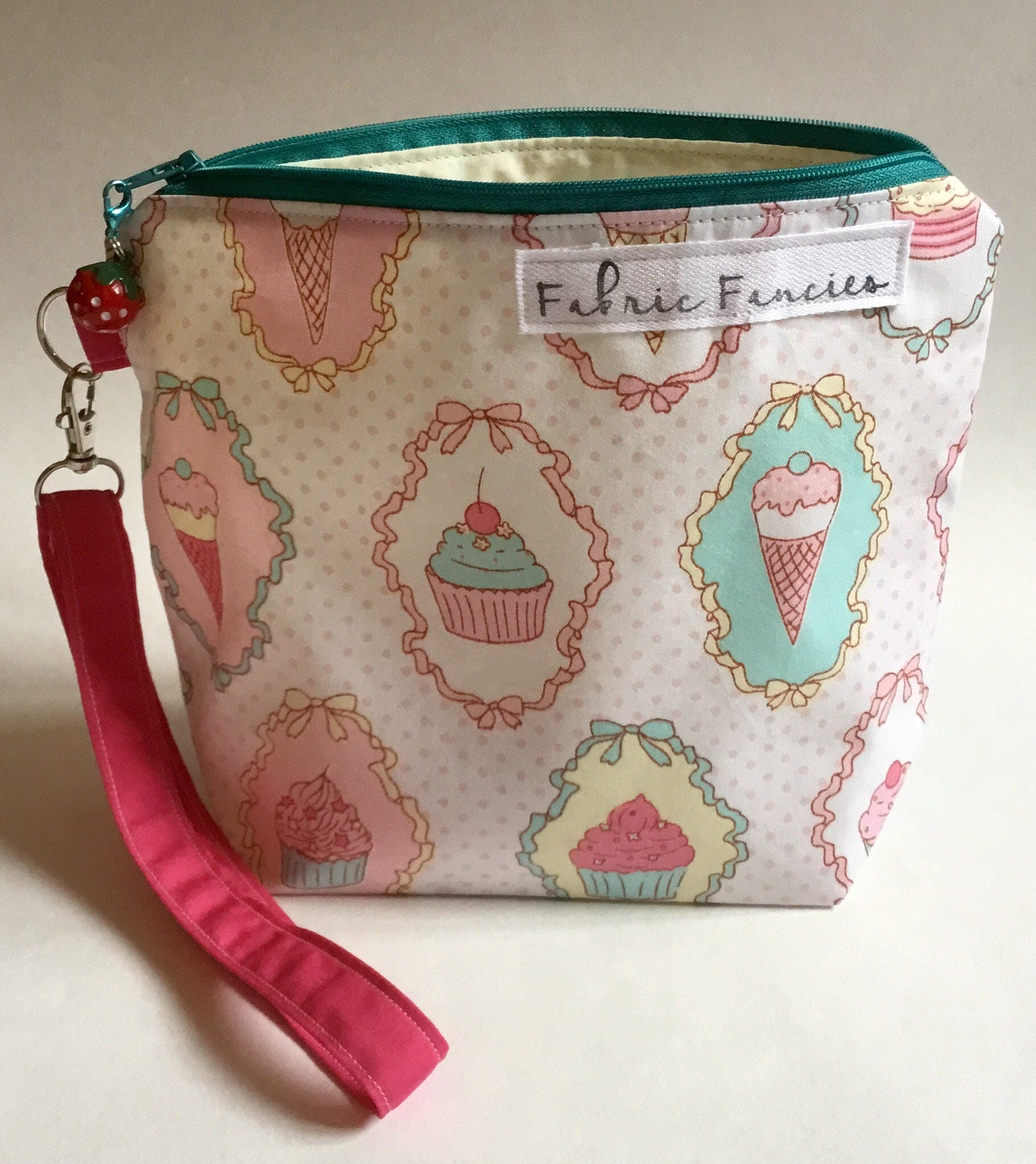 Project bag ice cream and cake pouch zipper bag cute yarn bag crochet knitting project