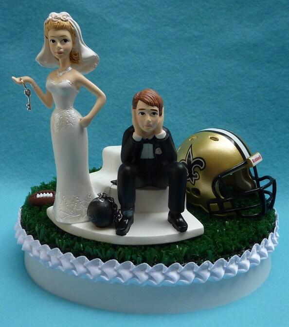 New Orleans Saints Cake Topper