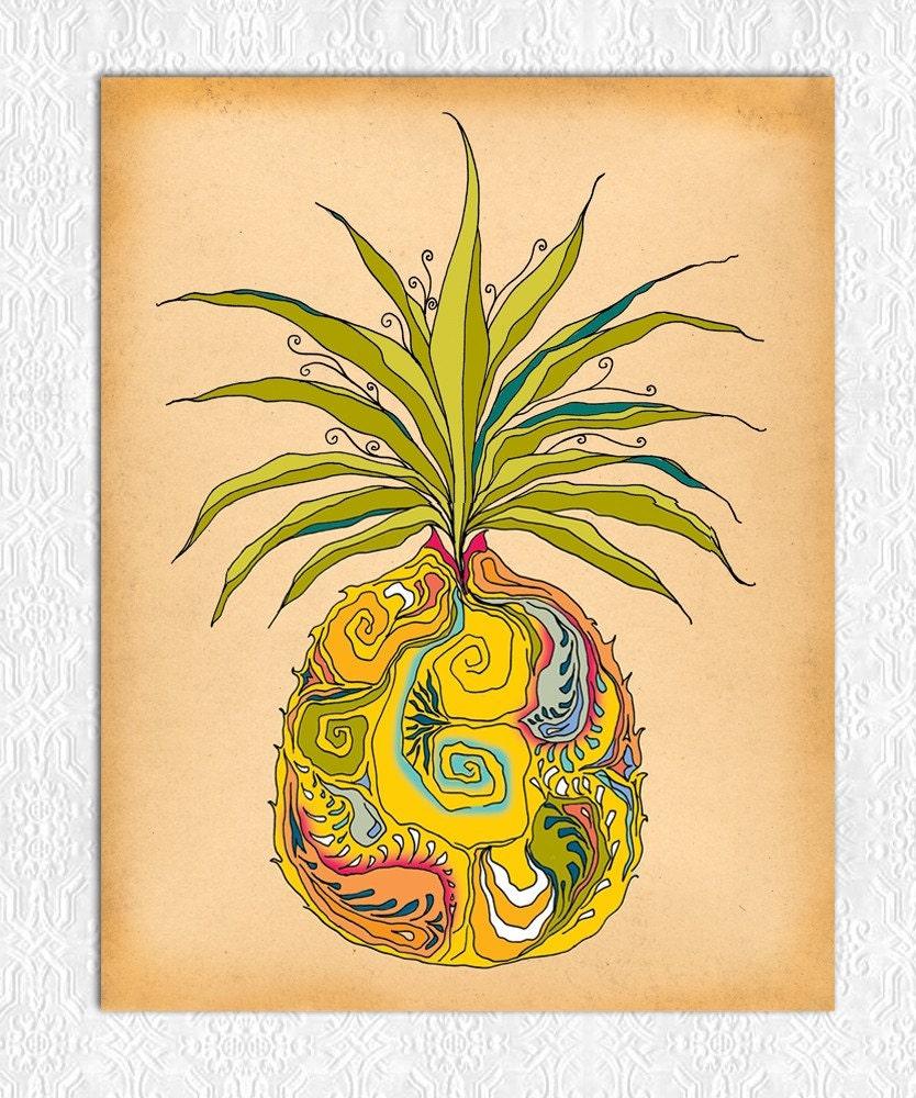 "Pineapple - 5"" x 7"" Print"