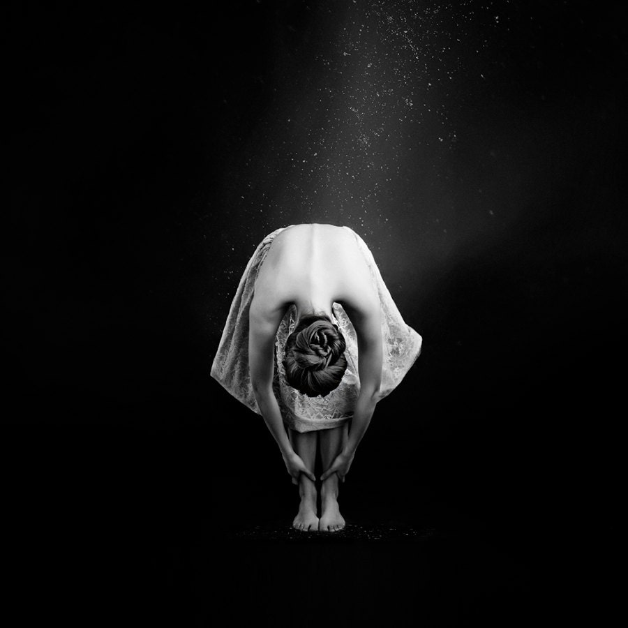 Fine Art Photography Print, Ballerina in Black & White, 16 x 16 Print - Ballerina III - VanessaPaxton