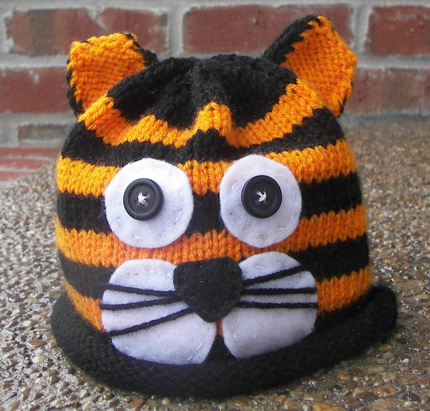Knitty باشید کلاه ببر --- بزرگ برای عکاسان، سرپا نگه داشتن عکس برای نوزادان / نوزاد