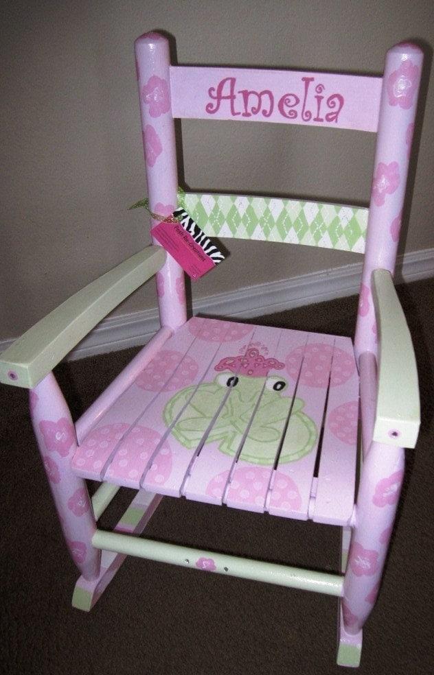Items Similar To Custom Girls Rocking Chair On Etsy