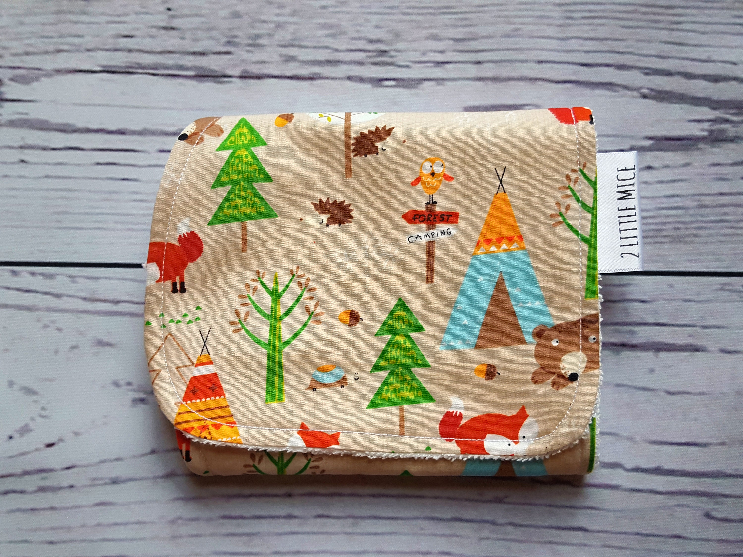 Woodland Burp Cloth Newborn Gift New Baby Gift Baby Girl Gift Baby Boy Gift Gender Neutral Baby New Mum Gift Baby Fox Baby Bear