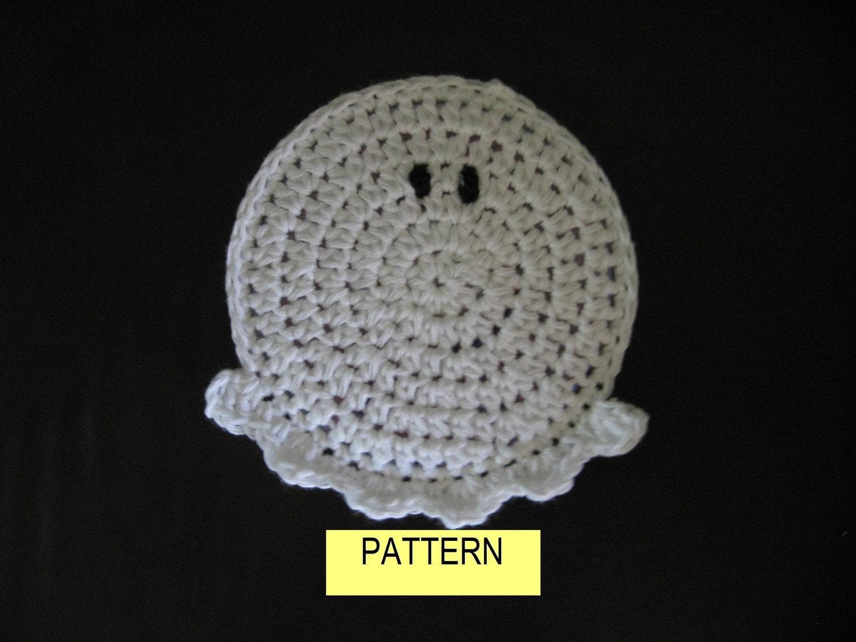COASTER PATTERN / Crochet GHOST Coaster by CROCHETBYMELISSA
