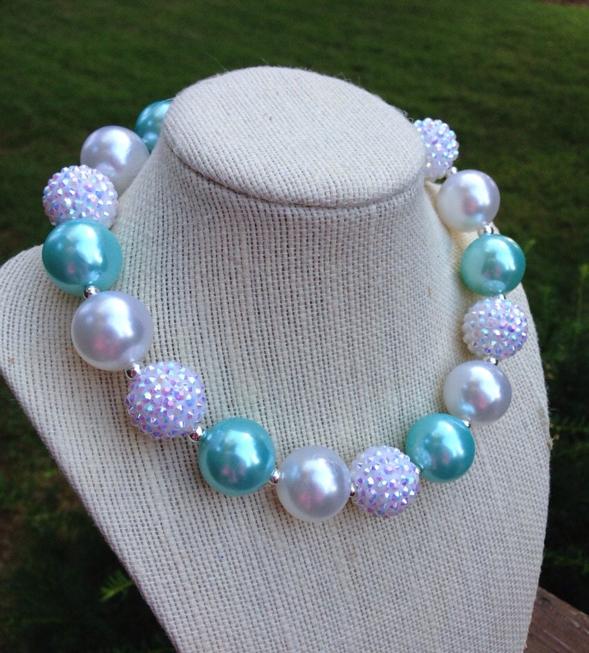 and elsa inspired gumball bead necklace for by