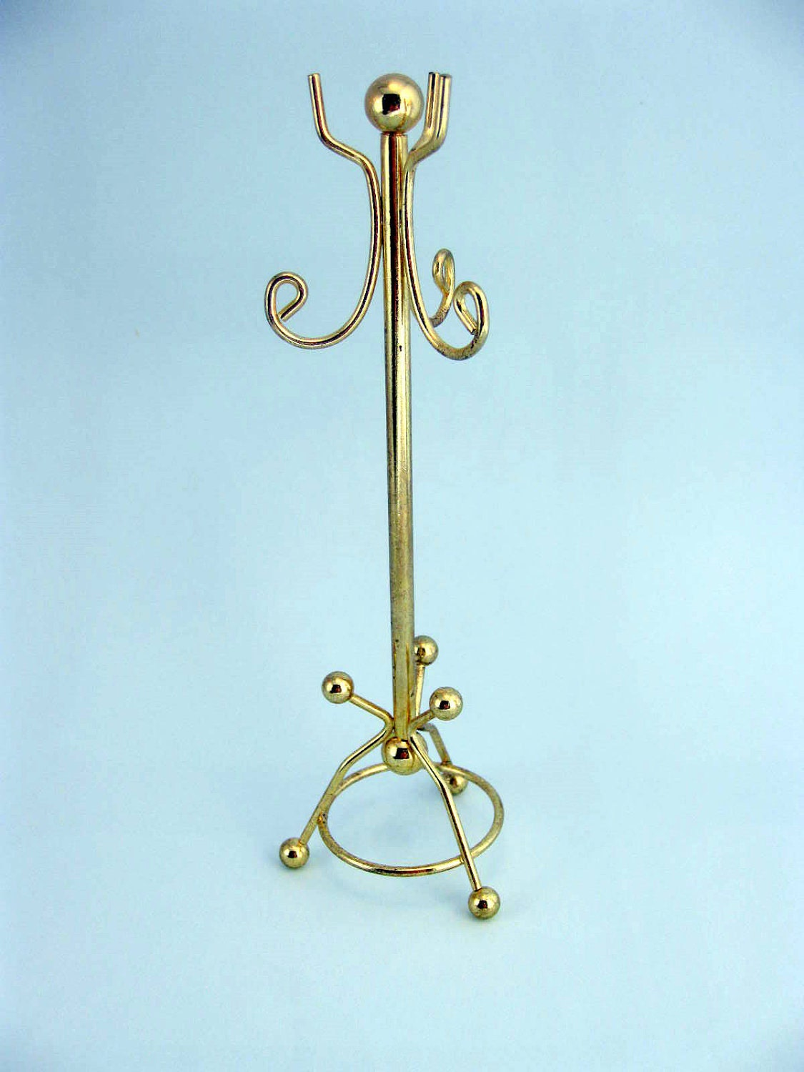 Miniature Brass Coat Rack Hall Tree By Mothersminitreasures