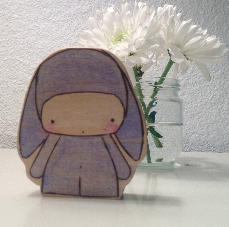 Benjamin Bunny Wooden Doll