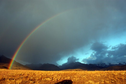 Andean Rainbow - Nature Photography, landscape photo, mountain clouds amazing beautiful picture - WildEarthElements