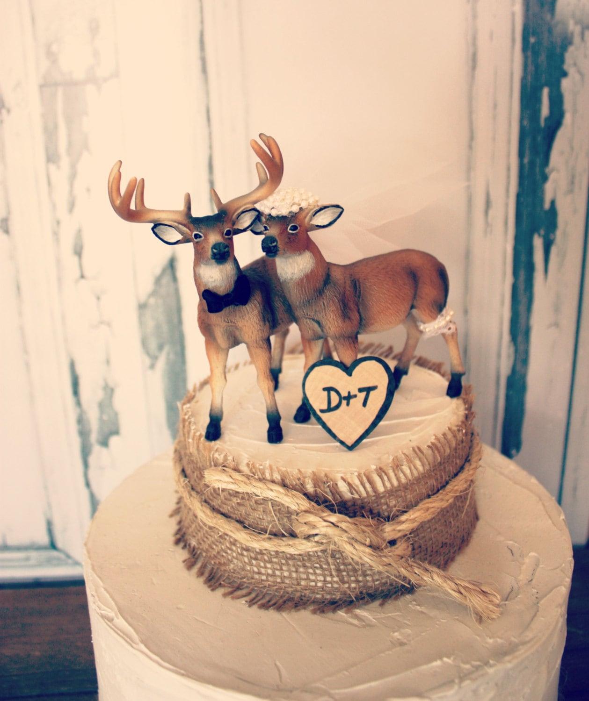 Buck and doe wedding cake topper Deer hunting by
