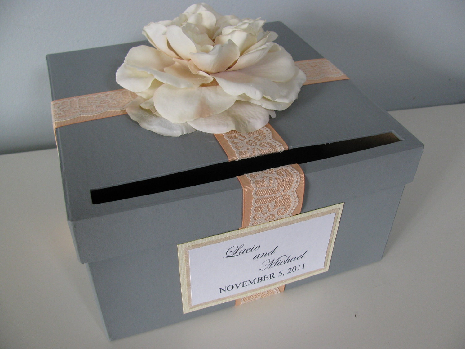 Wedding Shower Gift Card Box : to Card Box Bridal Shower Engagement Anniversary Wedding Card Box ...