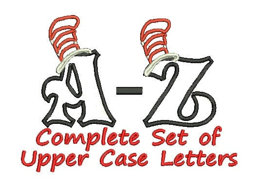 Cat In The Hat Applique Embroidery Dr Seuss Set