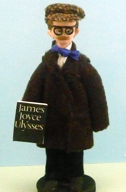 Author Doll James Joyce Miniature Literary Art Collectible