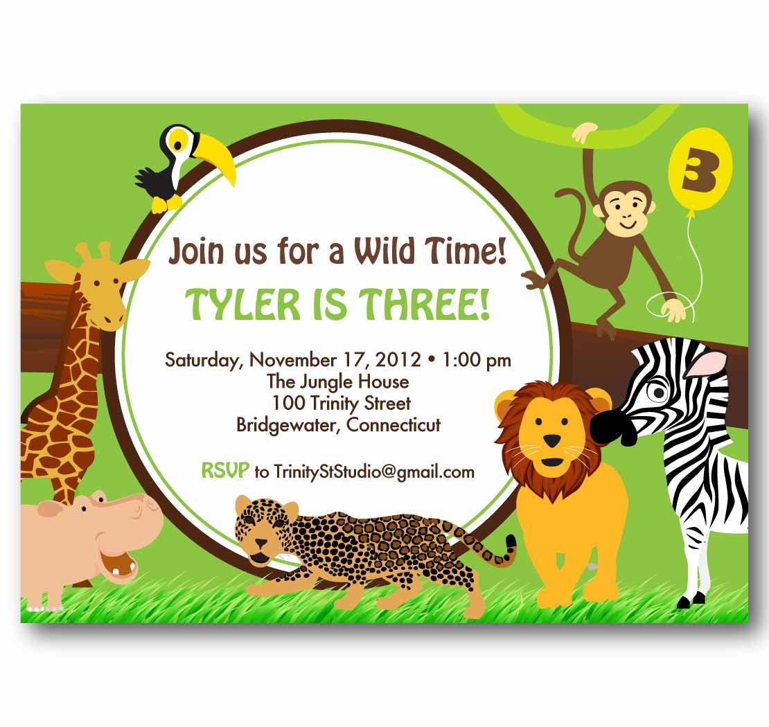 Zoo Animals Birthday Party Invitations ~ Image Inspiration of Cake ...