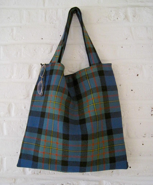 Handmade Recycled Reversible Kilt Bag