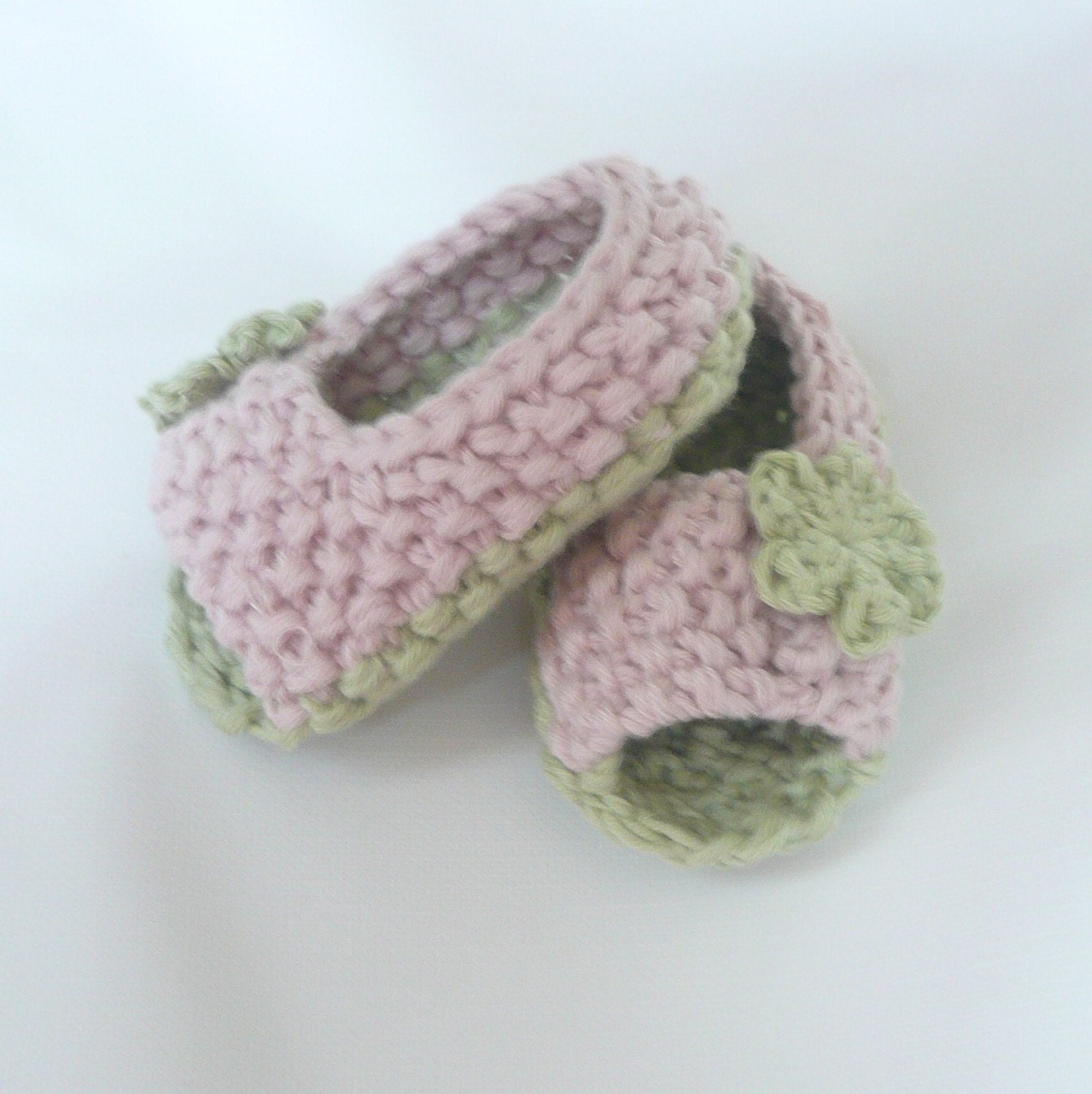 Knitting PATTERN Booties Baby Peeptoe Sandals Shoes by ceradka