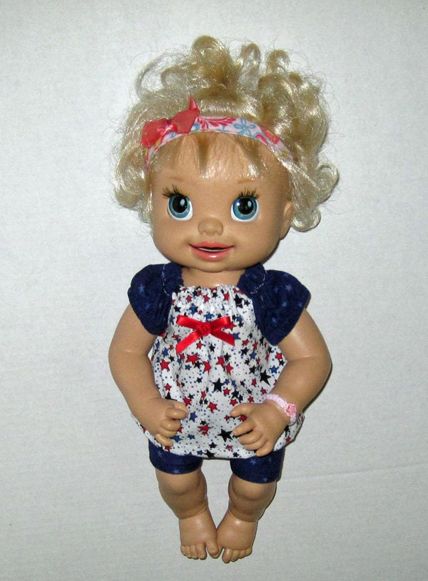 Baby Alive Red White and Blue Star Set Fits 16 by