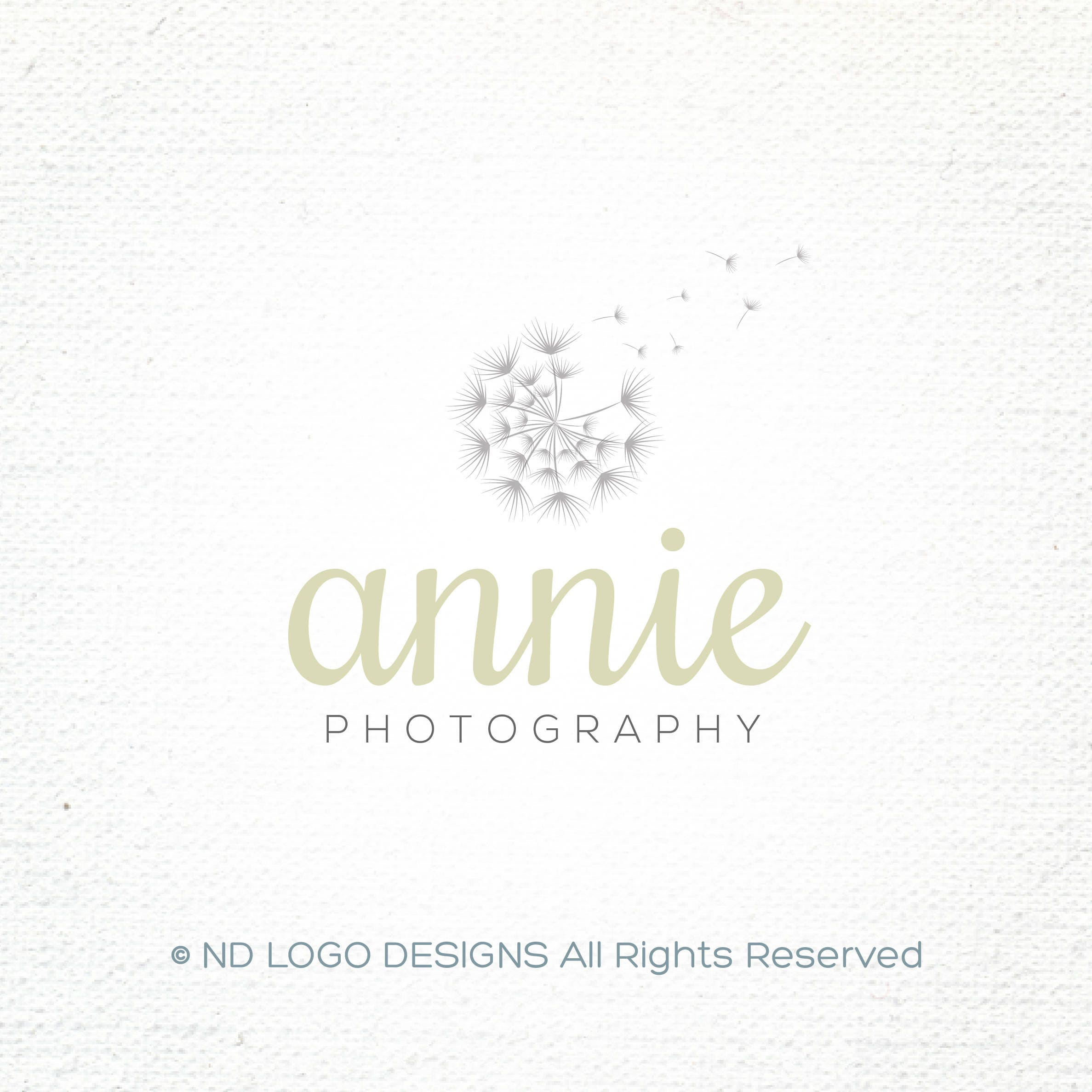 Cached Etsy photography logo design