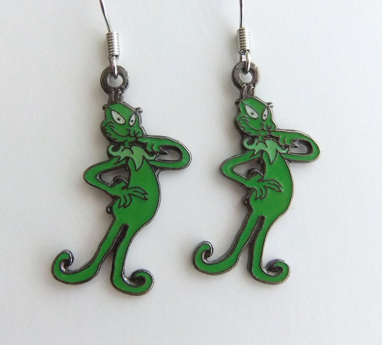 grinch earrings jewelry dr seuss by jademade82