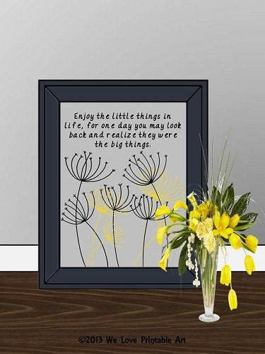Wall Decor Framed Quotes : Framed quote print printable art wall decor by