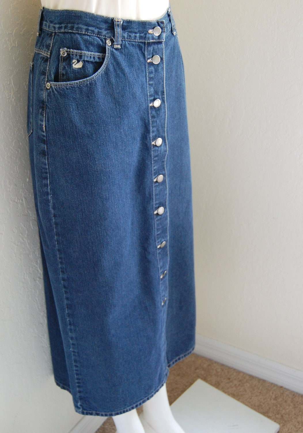 vintage gloria vanderbilt denim skirt by