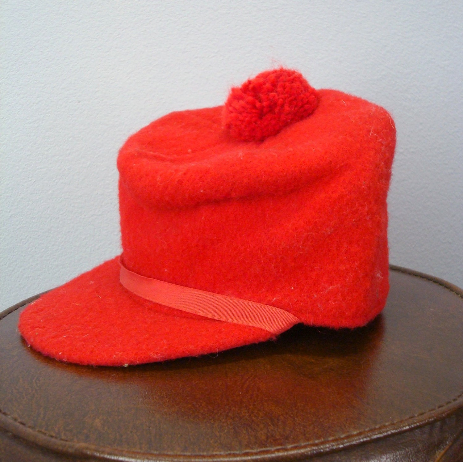 Red Hunting Cap Vintage 1960s Winter Hat By SweetHomeWoods