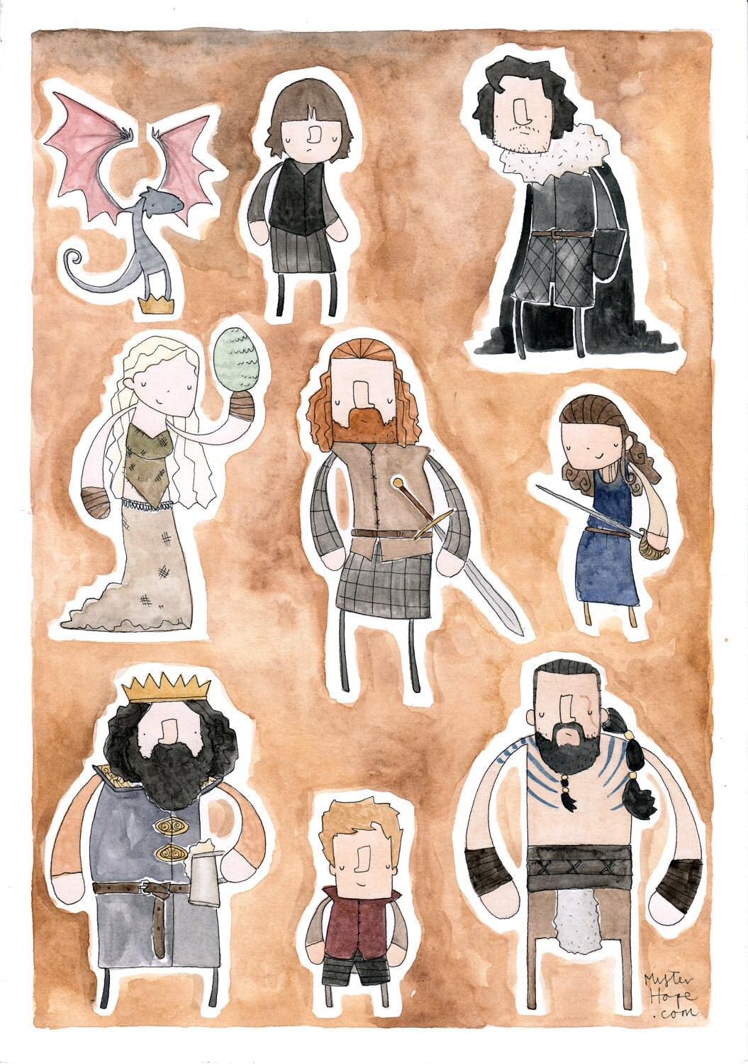 Game of Thrones in watercolor