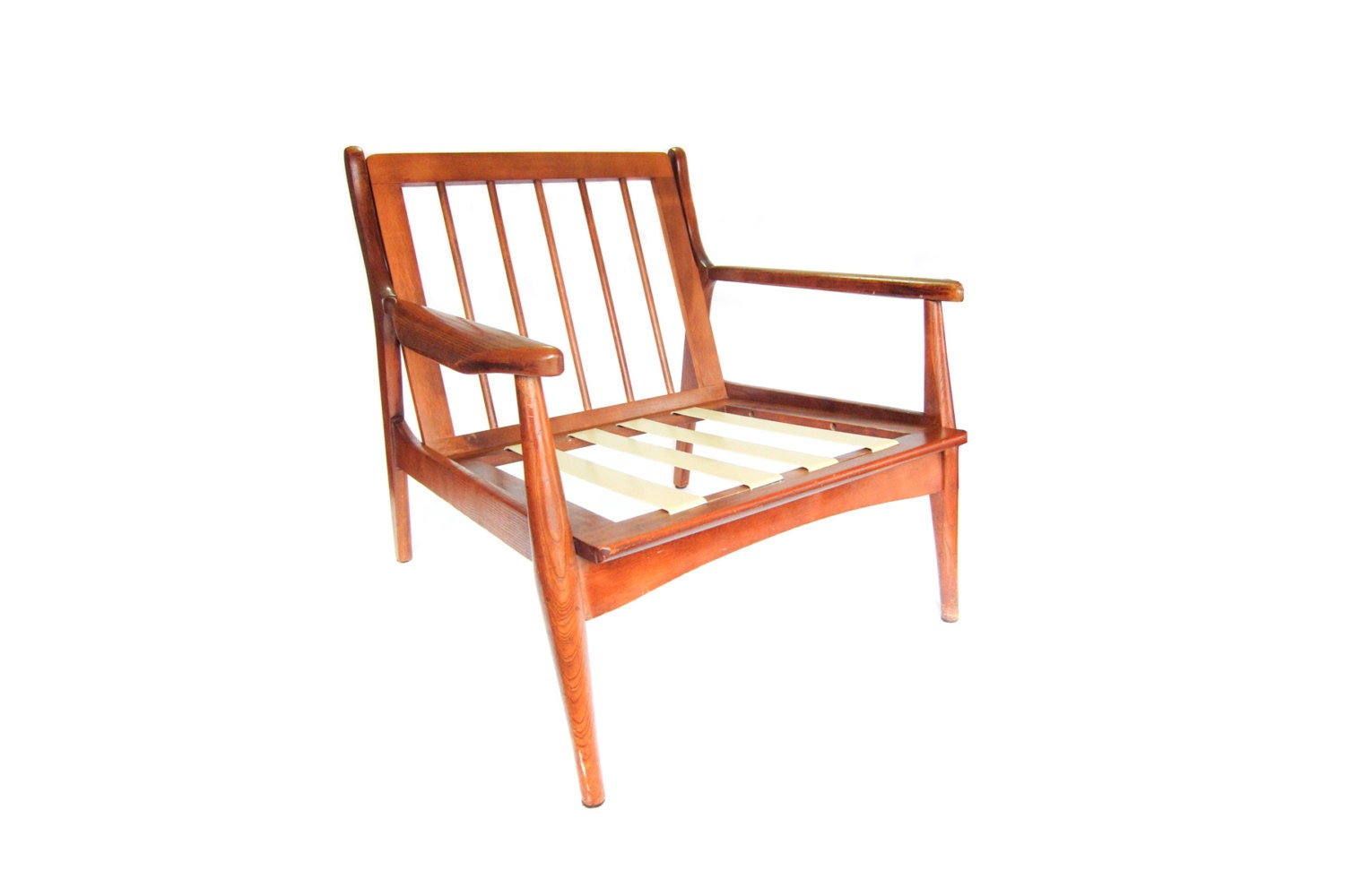 Vintage Danish Modern Wood Lounge Chair by pastoria on Etsy