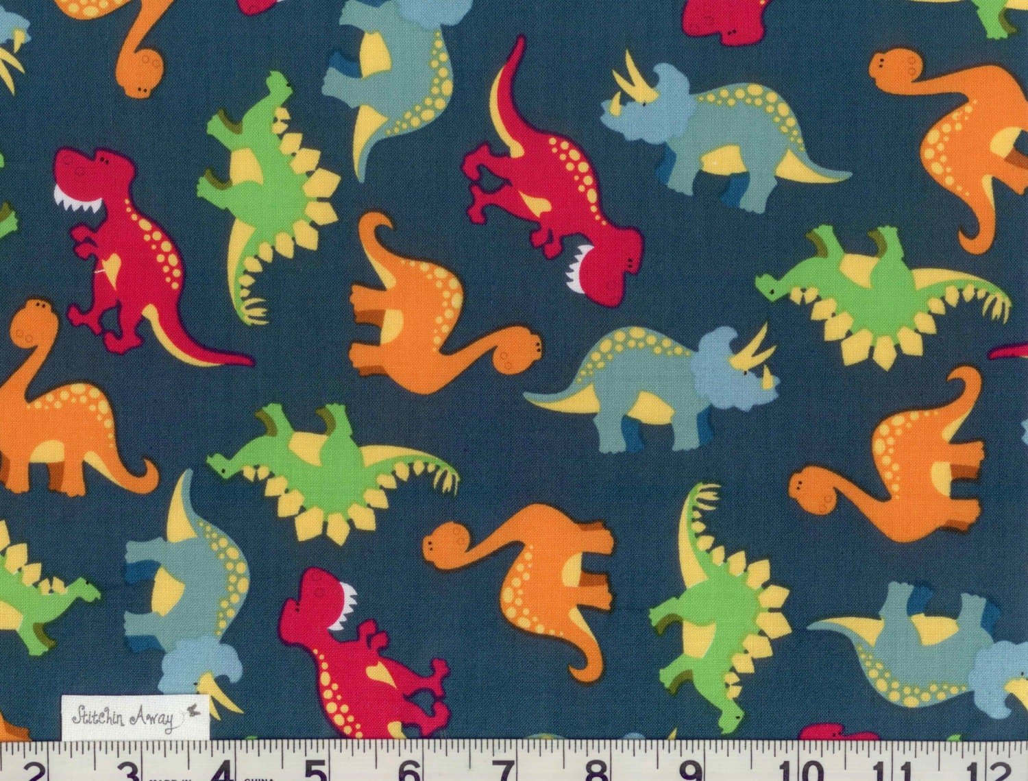 Dinosaurs fabric for Dinosaur fabric