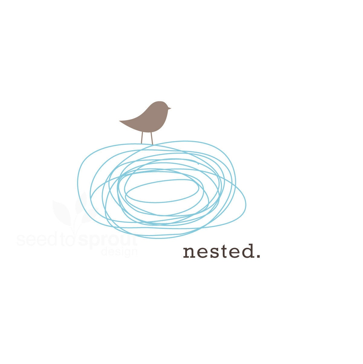 Reserved Logo Design Pre-made Bird Nest SOLD ONLY by ...