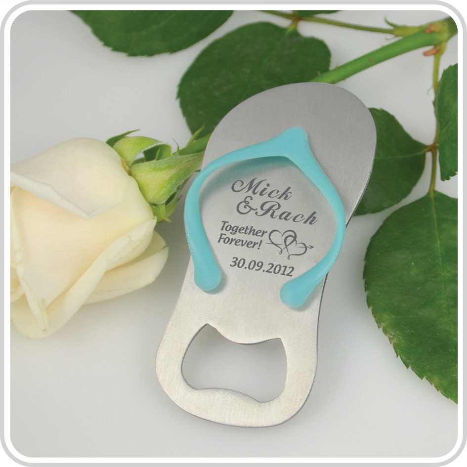 50 Mini Wedding Thong Flip Flop Bottle Gift by PersonalisedFavours