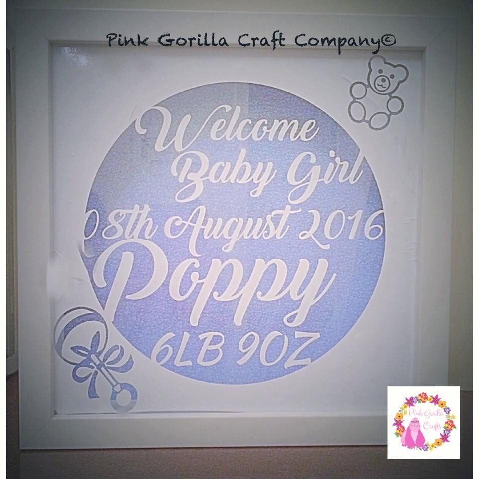 Personalised Baby Gift Baby Frame New Born Baby Frame Personalised Birth Details