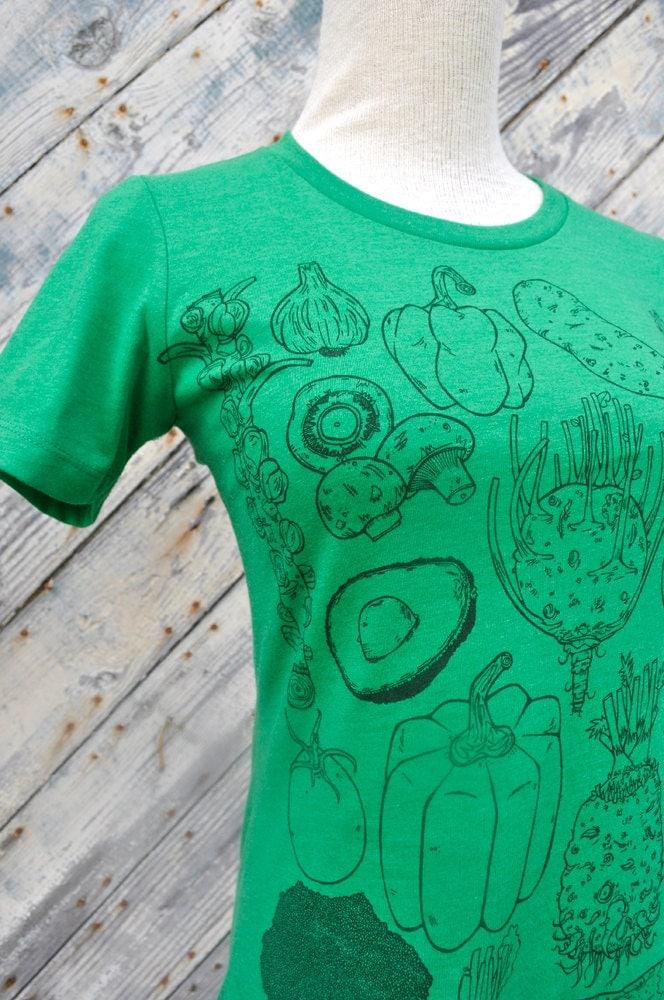 Womens Vegetable Tee - t-shirt - womens apparel - farmers market - vegetarian - NewDuds