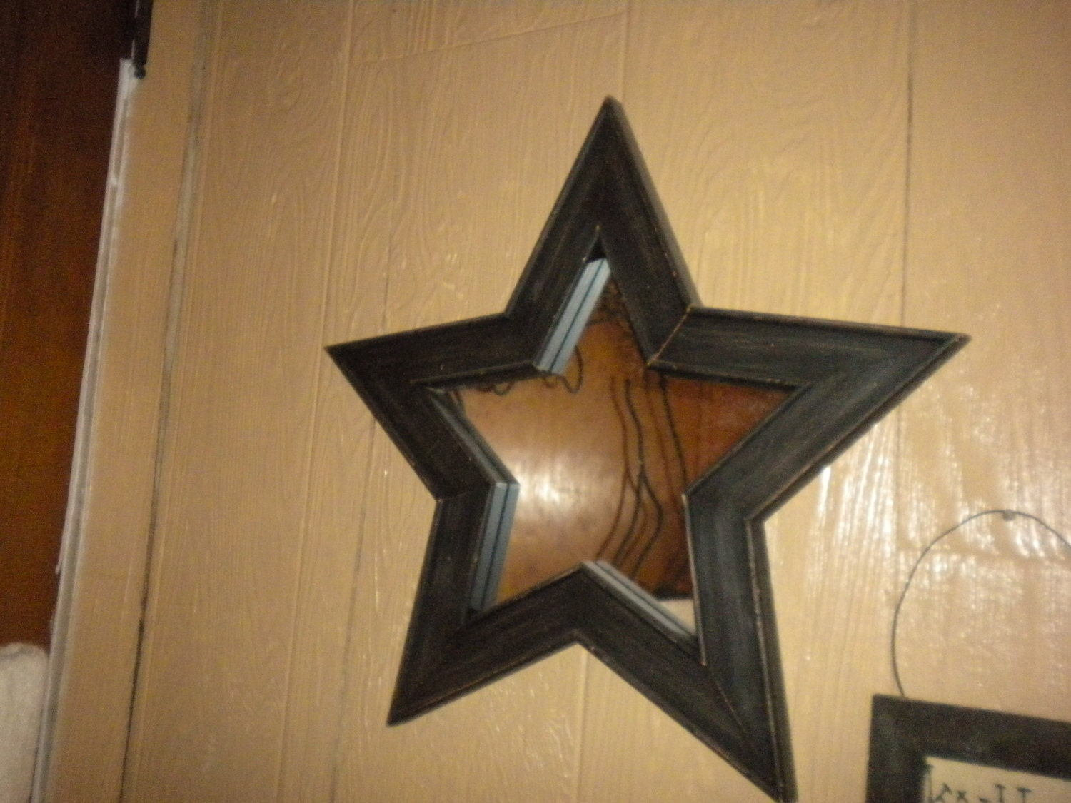 Primitive Wooden Star Mirror Primitive Bath by HitOrMissTreasures