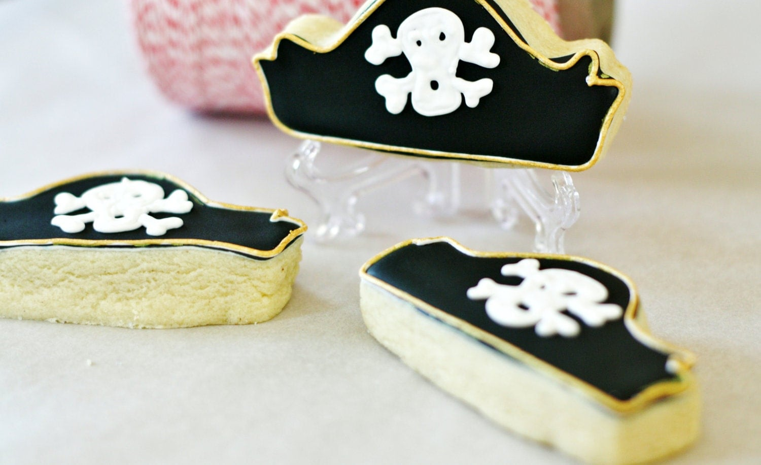 Pirate Hat Decorated Sugar Cookies - SugarLaneBakeShop