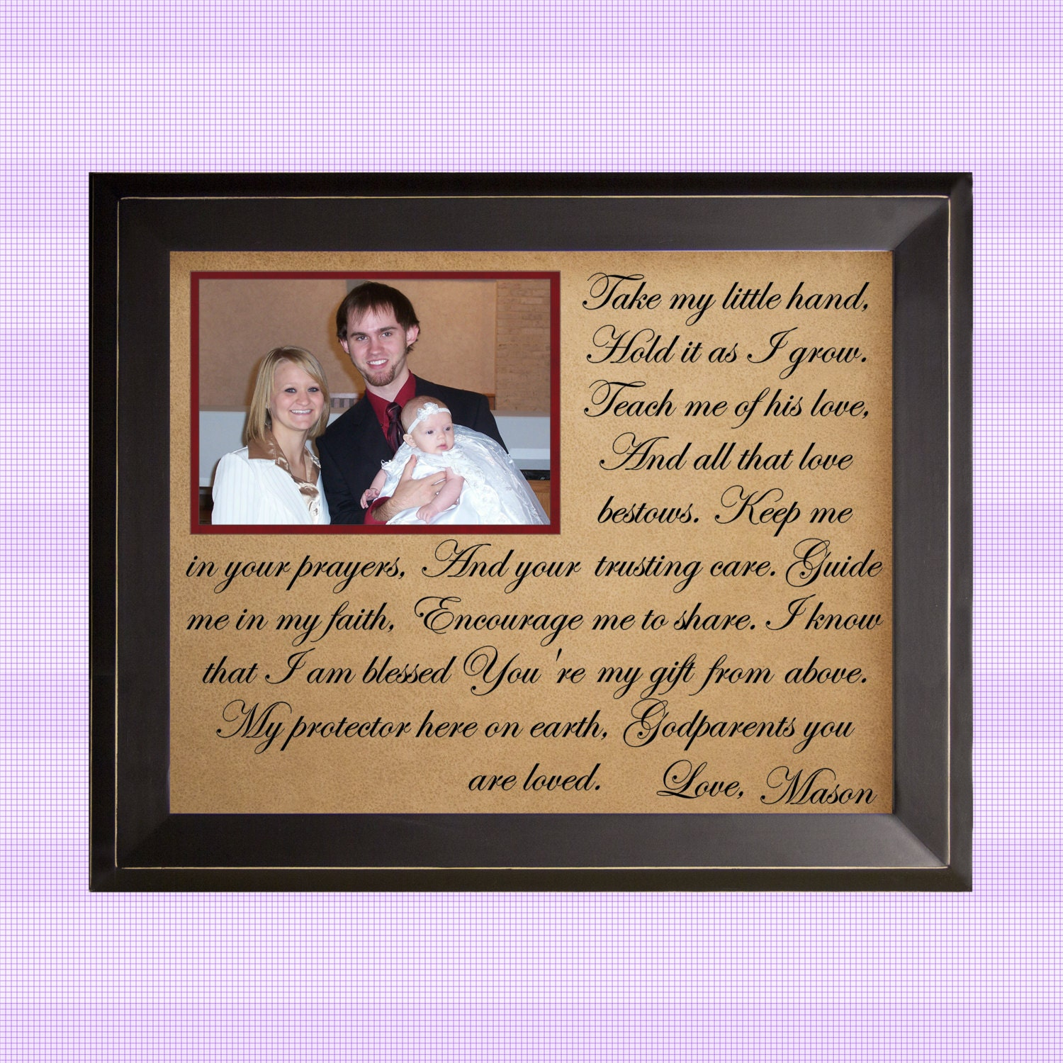 Gift For Godparents Baptism Take My Hand By