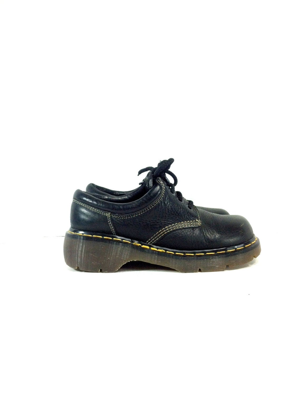leather doc marten ankle boots 9 black by melissajoyvintage