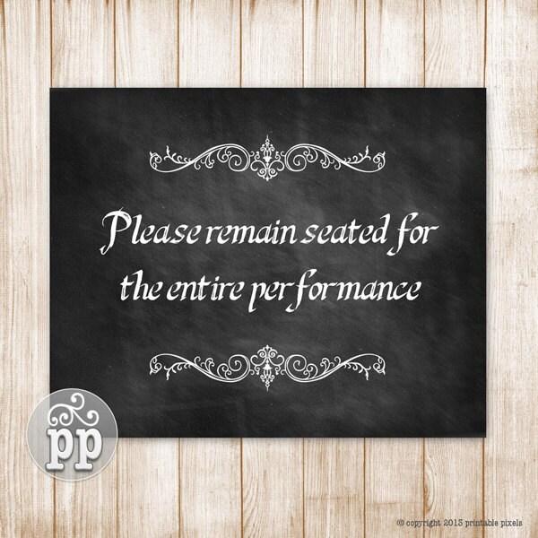 Please remain seated bathroom wall decor funny by printablepixels - Funny bathroom wall decor ...