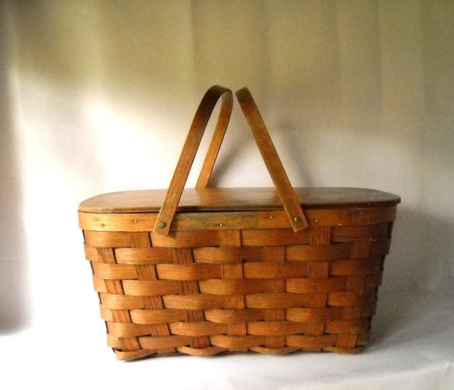 Vintage Picnic Basket Shelton Picnic Basket by VintageEye ...