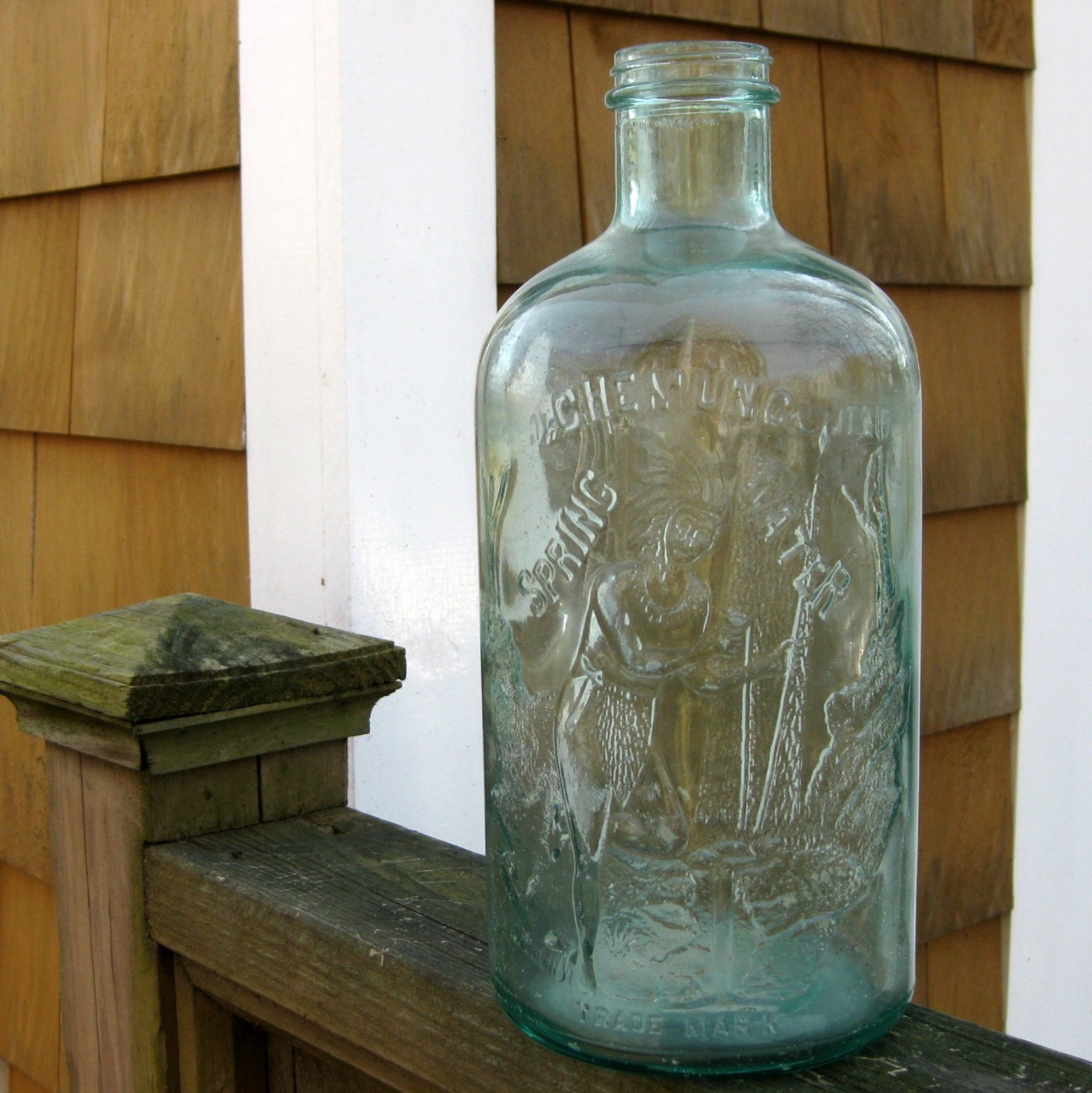 Chemung Spring Water Glass Bottle By Vintagehaven On Etsy