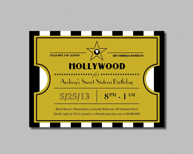 prom ticket invitation template