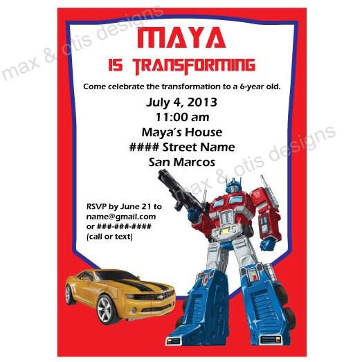 Sly image with regard to transformer birthday invitations printable free