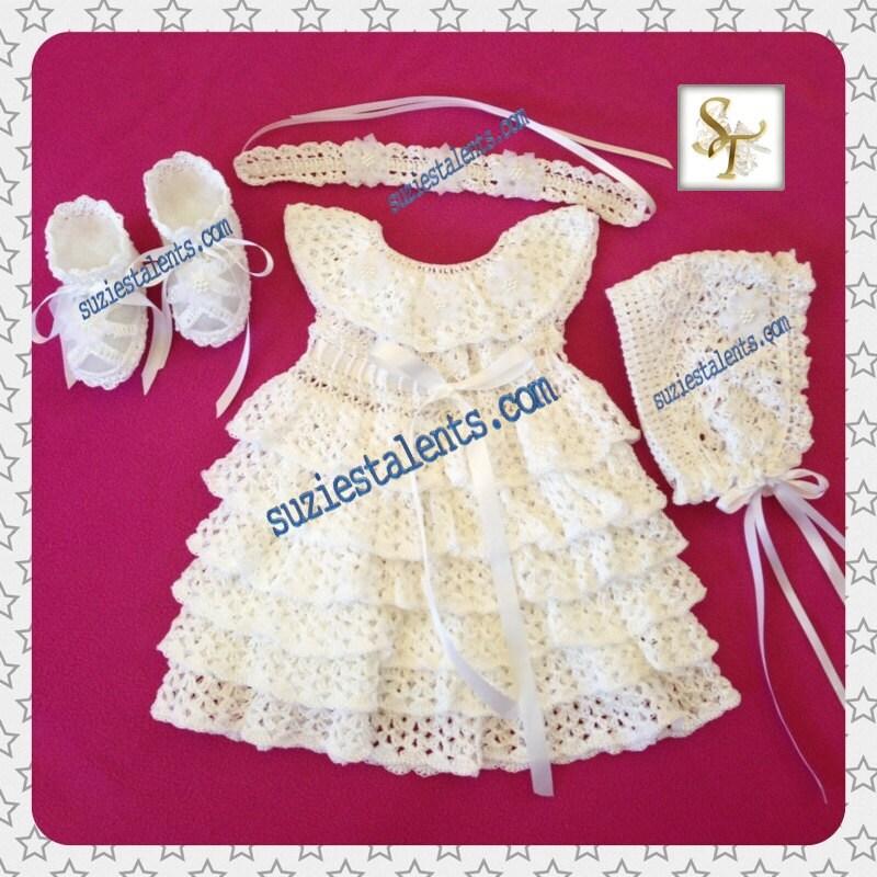 Crochet Baby Christening Dress