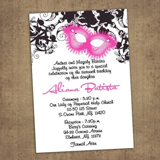 online for free quinceanera invitation