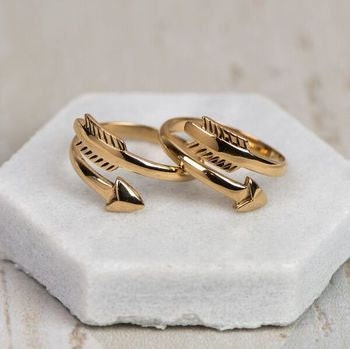 Heaven Sent Silver Angel RingBronze Chiko Arrow Ring